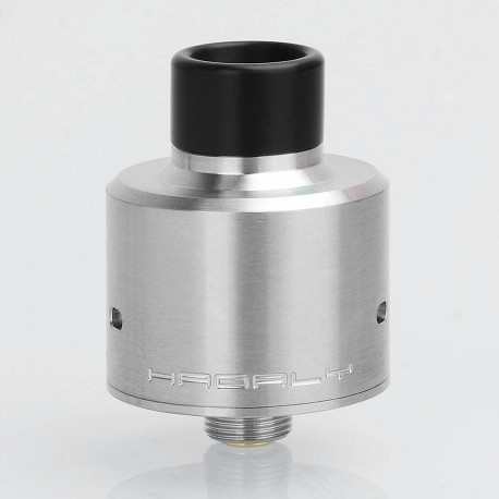 YFTK Hadaly Style RDA Rebuildable Dripping Atomizer w/ BF Pin - Silver, 316 Stainless Steel, 22mm Diameter