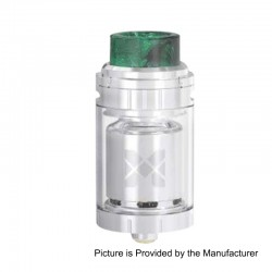 Authentic Vandy Vape Mesh 24 RTA Rebuildable Tank Atomizer - Silver, Stainless Steel, 24mm Diameter