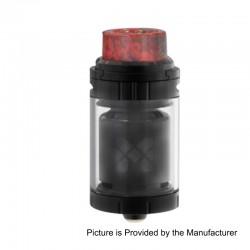 Authentic Vandy Vape Mesh 24 RTA Rebuildable Tank Atomizer - Black, Stainless Steel, 24mm Diameter