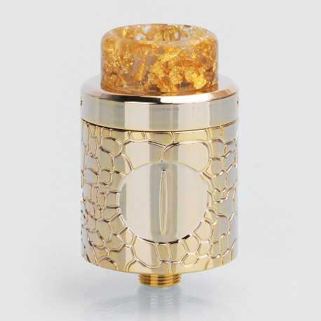 Weapon Style RDA Rebuildable Dripping Atomizer - Gold, Stainless Steel, 24mm Diameter