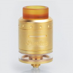 Authentic GeekVape Peerless RDTA Rebuildable Dripping Tank Atomizer - Gold, Stainless Steel, 2ml, 24mm Diameter, EU / TPD