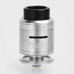 Authentic GeekVape Peerless RDTA Rebuildable Dripping Tank Atomizer - Silver, Stainless Steel, 2ml, 24mm Diameter, EU / TPD
