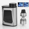 Authentic IJOY CAPO 100W 3750mAh TC VW Box Mod + Captain Mini Tank Kit - Silver, 1 x 21700 / 20700 / 18650, 3.2ml, 22.5mm