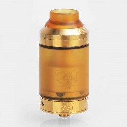 Kindbright Sherman V3 Style RTA Rebuildable Tank Atomizer - Gold, 316 Stainless Steel, 4ml, 28mm Diameter