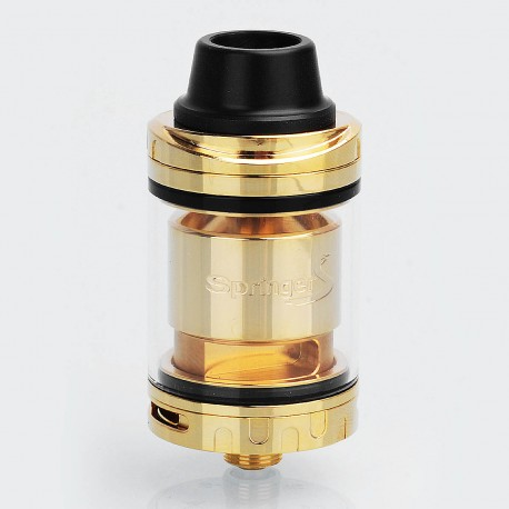 Authentic Tigertek Springer S RTA Rebuildable Tank Atomizer - Gold, Stainelss Steel, 3.5ml, 24mm Diameter