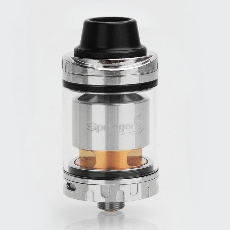 Authentic Tigertek Springer S RTA Rebuildable Tank Atomizer - Silver, Stainelss Steel, 3.5ml, 24mm Diameter