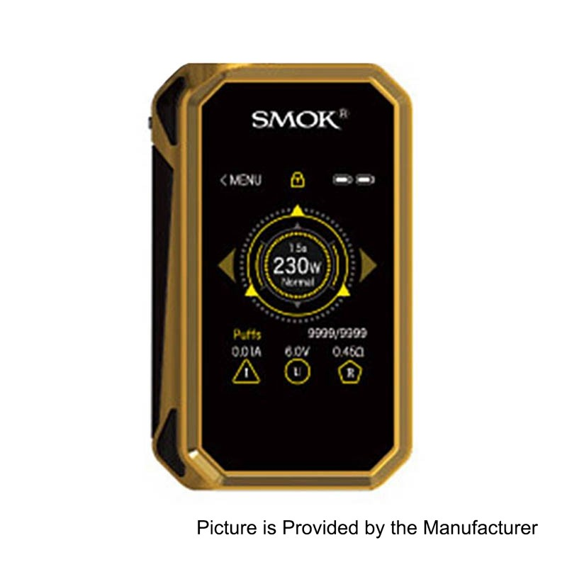 Αποτέλεσμα εικόνας για G-PRIV 2 230W BOX MOD BY SMOK GOLD