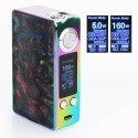 Authentic Aleader Funky 160W TC VW Variable Wattage Box Mod - Rainbow + Random Color, SS + Resin, 5~160W, 2 x 18650