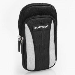 Authentic Iwodevape Carrying Pouch Bag for E-Cigarette - Black + Grey, Nylon, 113 x 177 x 41mm