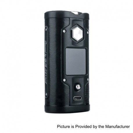 Authentic SXmini G Class 200W TC VW Variable Wattage Box Mod - Black Leather, 5~200W, 2 x 18650