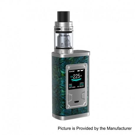 Authentic SMOKTech SMOK Majesty 225W TC VW Box Mod + TFV8 X-Baby Tank Standard Kit - Green Resin, 6~225W, 4ml, 2 x 18650