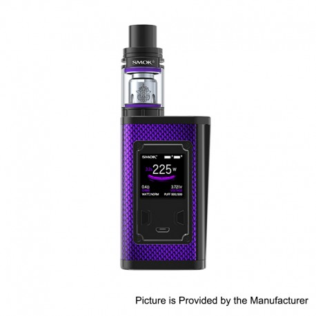 Authentic SMOKTech SMOK Majesty 225W TC VW Mod + TFV8 X-Baby Tank EU / TPD Kit - Purple Carbon Fiber, 6~225W, 2ml, 2 x 18650