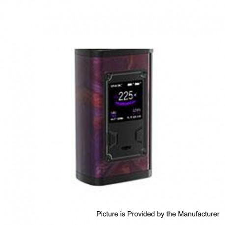 Authentic SMOKTech SMOK Majesty 225W TC VW Variable Wattage Box Mod - Purple Resin, 6~225W, 2 x 18650