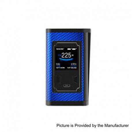 Authentic SMOKTech SMOK Majesty 225W TC VW Variable Wattage Box Mod - Blue Carbon Fiber, 6~225W, 2 x 18650