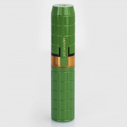 Authentic Omeka MSM Stacked Hybrid Mechanical Mod - Green, Brass, 1 / 2 x 18650