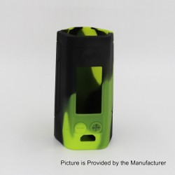 Authentic Iwodevape Protective Sleeve Case for Wismec Reuleaux RX GEN3 300W Mod - Black + Green, Silicone