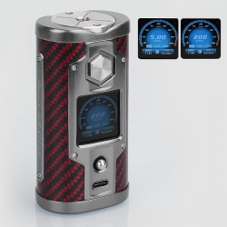 Authentic SXmini G Class 200W Limited Edition TC VW Variable Wattage Box Mod - Kevlar Red, 5~200W, 2 x 18650