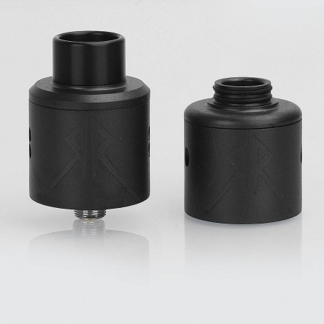Grimm Green x OhmBoyOC Recoil Rebel RDA Rebuildable Dripping Atomizer - Black, Stainless Steel, 25mm Diameter