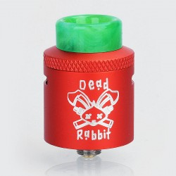 Authentic Hellvape Dead Rabbit RDA Rebuildable Dripping Atomizer w/ BF Pin - Red, Aluminum, 24mm Diameter