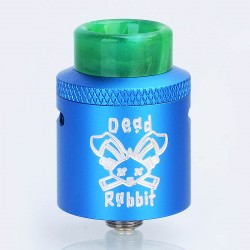 Authentic Hellvape Dead Rabbit RDA Rebuildable Dripping Atomizer w/ BF Pin - Blue, Aluminum, 24mm Diameter