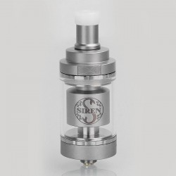 Authentic Digiflavor Siren 2 V2 MTL RTA Rebuildable Tank Atomizer - Silver, Stainless Steel, 2ml, 22mm Diameter