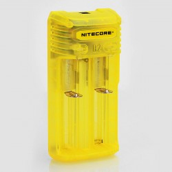 Authentic Nitecore Q2 2A Quick Charger for 18650 / 20700 / 26650 Rechargeable Battery - Yellow, 2 x Battery Slots, US Plug
