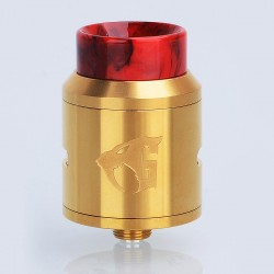 Goon 1.5 Style RDA Rebuildable Dripping Atomizer w/ Resin Drip Tip - Gold, Stainless Steel, 24mm Diameter