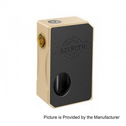 Authentic CoilART Azeroth Squonk Mechanical Box Mod - Gold, Aluminum, 7ml, 1 x 18650 / 20700 / 21700