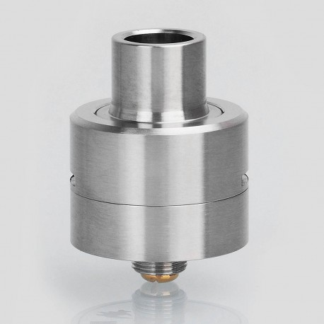 SXK M-Atty Style RDA Rebuildable Dripping Atomizer w/ BF Pin - Silver, 316 Stainless Steel, 22mm Diameter