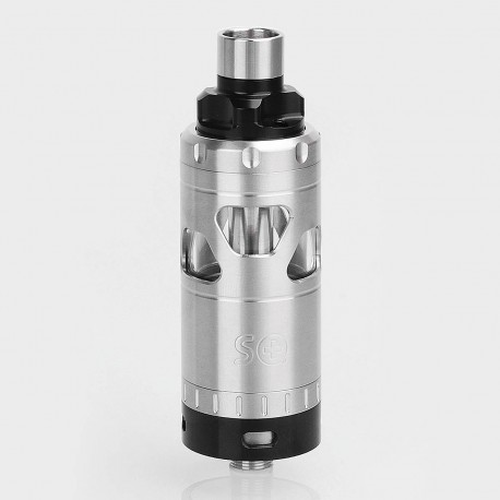 SQ Emotion Style RTA Rebuildable Tank Atomizer - Silver, Stainless Steel, 4.5ml, 22mm Diameter