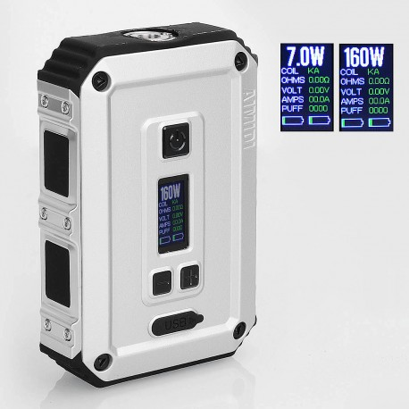 Authentic AIMIDI Tank T2 160W Waterproof TC VW Variable Wattage Box Mod - Silver, 7~160W, 2 x 18650