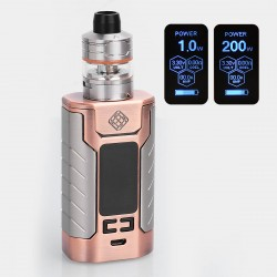 Authentic Wismec Sinuous FJ200 200W 4600mAh TC VW Variable Wattage Mod + Divider Tank Kit - Bronze, 1~200W, 4ml, 25mm Diameter