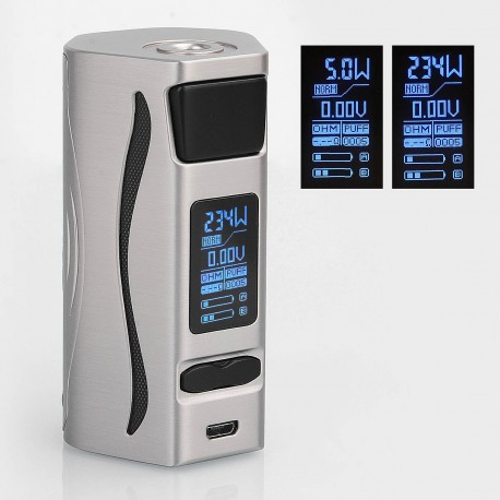 Authentic IJOY Genie PD270 234W TC Temperature Control Box Mod - Silver, 5~234W, 2 x 20700, Without Battery