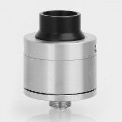 YFTK Sentinel Style RDA Rebuildable Dripping Atomizer w/ BF Pin - Silver, 316 Stainless Steel, 22mm Diameter