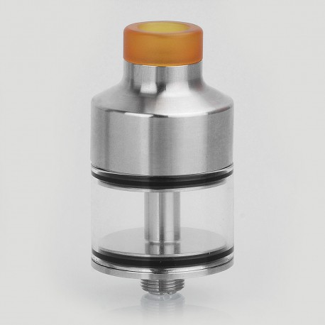 Coppervape NarBa Style RDTA Rebuildable Dripping Tank Atomizer - Silver, 316 Stainless Steel, 3ml, 22mm Diameter