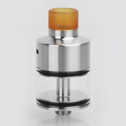 Coppervape NarTa Style RDTA Rebuildable Dripping Tank Atomizer - Silver, 316 Stainless Steel, 3ml, 22mm Diameter
