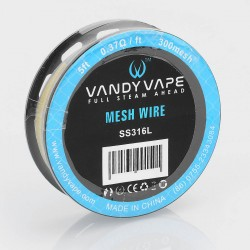 Authentic Vandy Vape SS316L Mesh Wire DIY Heating Wire for Mesh RDA - 0.37 Ohm / Ft, 5 Feet (300 Mesh)