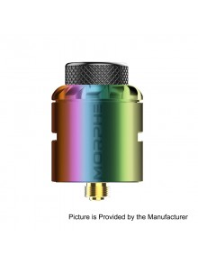 Authentic Tigertek Morphe RDA Rebuildable Dripping Atomizer w/ BF Pin - Rainbow, Stainless Steel, 24mm Diameter