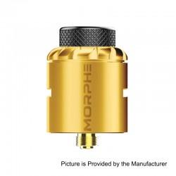 Authentic Tigertek Morphe RDA Rebuildable Dripping Atomizer w/ BF Pin - Gold, Stainless Steel, 24mm Diameter