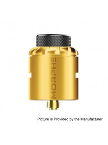 Authentic Tigertek Morphe RDA Rebuildable Dripping Atomizer w/ BF Pin - Gold, Stainless Steel, 24mm Diameter