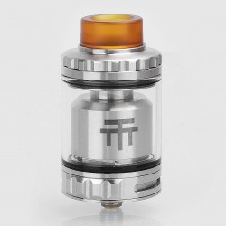 Authentic Vandy Vape Triple 28 RTA Rebuildable Tank Atomizer - Silver, Stainless Steel, 4ml, 28mm Diameter