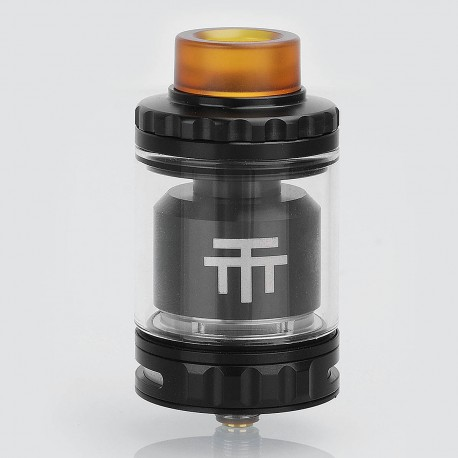 Authentic Vandy Vape Triple 28 RTA Rebuildable Tank Atomizer - Black, Stainless Steel, 4ml, 28mm Diameter
