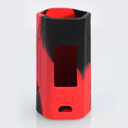 Authentic Iwodevape Protective Sleeve Case for Wismec Reuleaux RX GEN3 300W Mod - Black + Red, Silicone
