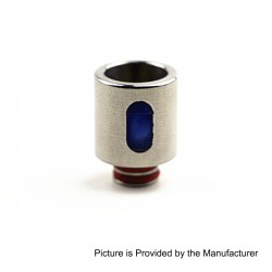 510 Replacement Drip Tip for RDA / RTA / Sub Ohm Tank - Blue, Resin + Stainless Steel, 21mm