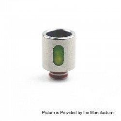 510 Replacement Drip Tip for RDA / RTA / Sub Ohm Tank - Green, Resin + Stainless Steel, 21mm