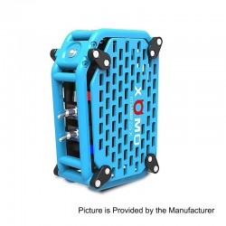 Authentic XOMO GT Laser 255X 150W 3500mAh Box Mod - Blue, Stainless Steel