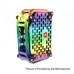 Authentic XOMO GT Laser 255X 150W 3500mAh Box Mod - Rainbow, Stainless Steel