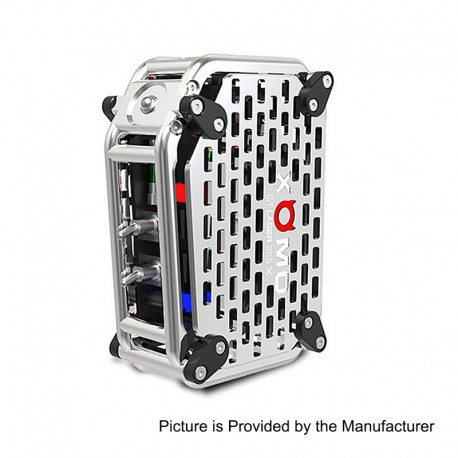 Authentic XOMO GT Laser 255X 150W 3500mAh Box Mod - Silver, Stainless Steel