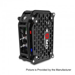 Authentic XOMO GT Laser 255X 150W 3500mAh Box Mod - Black, Stainless Steel