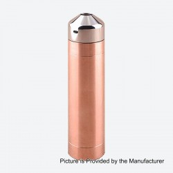 Little Cannon Style Mechanical Mod + RDA Kit - Copper + Silver, Copper + Titanium + Stainless Steel, 1 x 18650, 24mm Diameter
